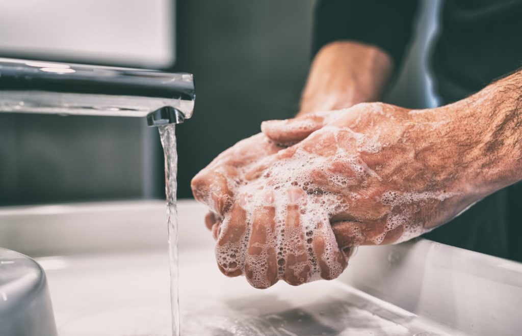 vigorous hand washing